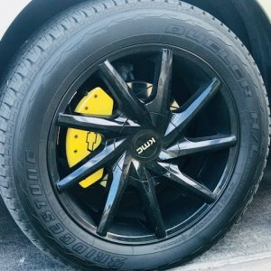 "Custom 1 set 20"" KMC Burst705 with Bridgestone Duelers. MGP Caliper Covers, Crossed drilled /spotted rotors. No stk wheels here. Chevy can't do this s"